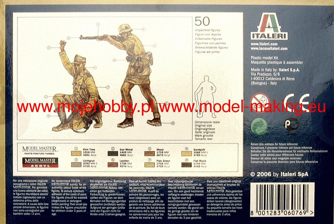 Ww Ii German Afrika Korps Kit 1:72 Italeri IT6076 Miniature