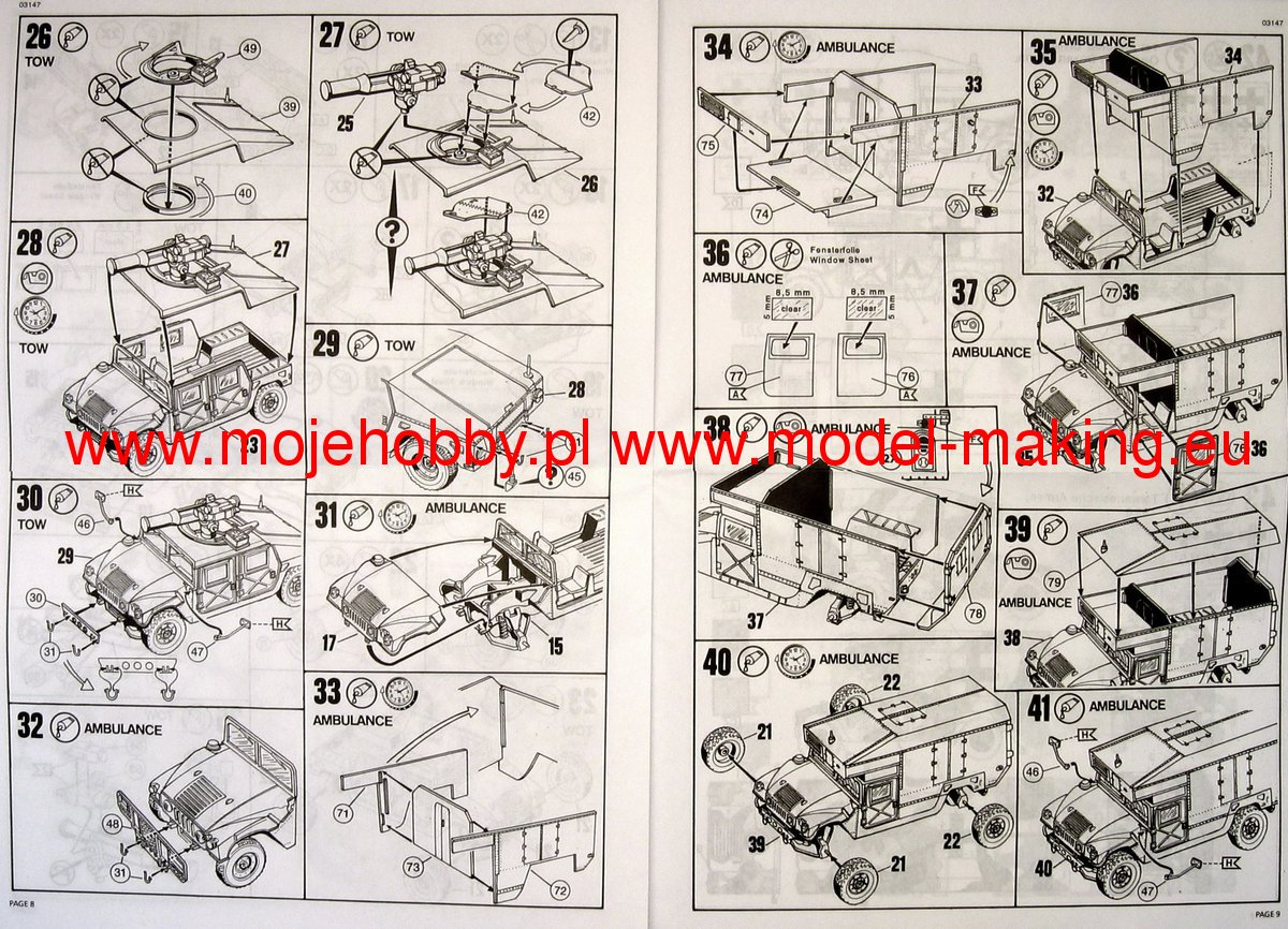Hmmwv M966 Tow Missile Carrier And M997 Maxi Ambulance Revell 03147 Humvee Wiring Diagram 2 Rev3147 5