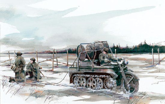 Image result for German Kettenkrad in the snow