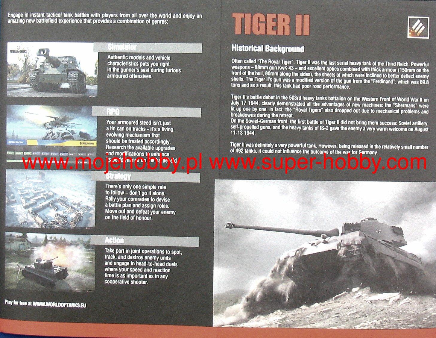 World of tanks tiger ii roll out model set italeri 74001 2ita740015g sciox Gallery