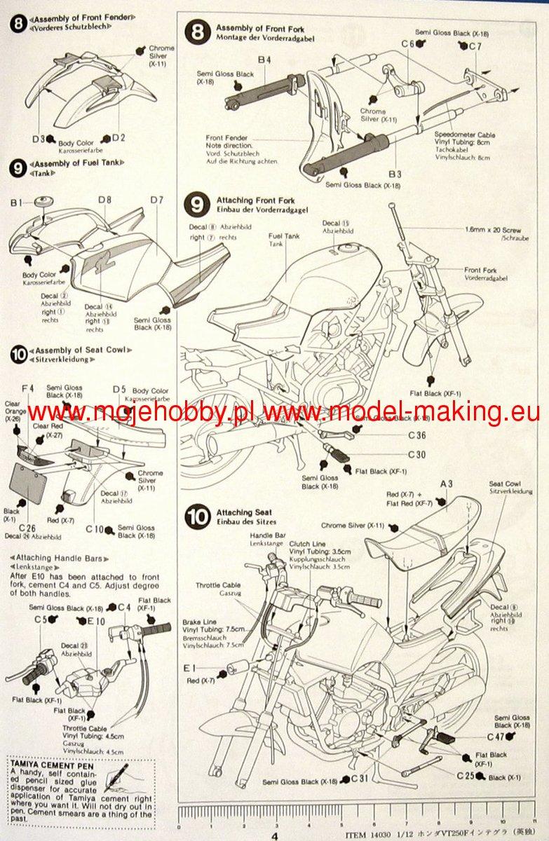 honda vt250 integra tamiya 14030 rh super hobby com honda vt 250 wiring diagram