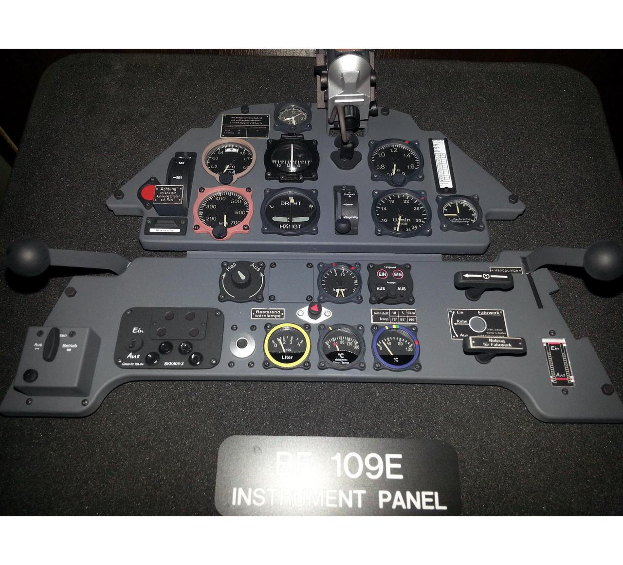 Bf-109E instrument panel