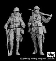 French soldiers WWI set - Image 1