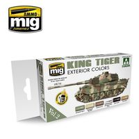 A.MIG 7166 KING TIGER EXTERIOR COLOR (SPECIAL TAKOM EDITION) VOL.2 Set