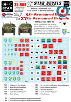 British 4th and 27th Armoured Brigade Formation & AoS markings. - Image 1