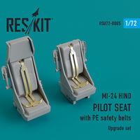 MI-24 hind. Pilot seat with PE safety belts - Image 1