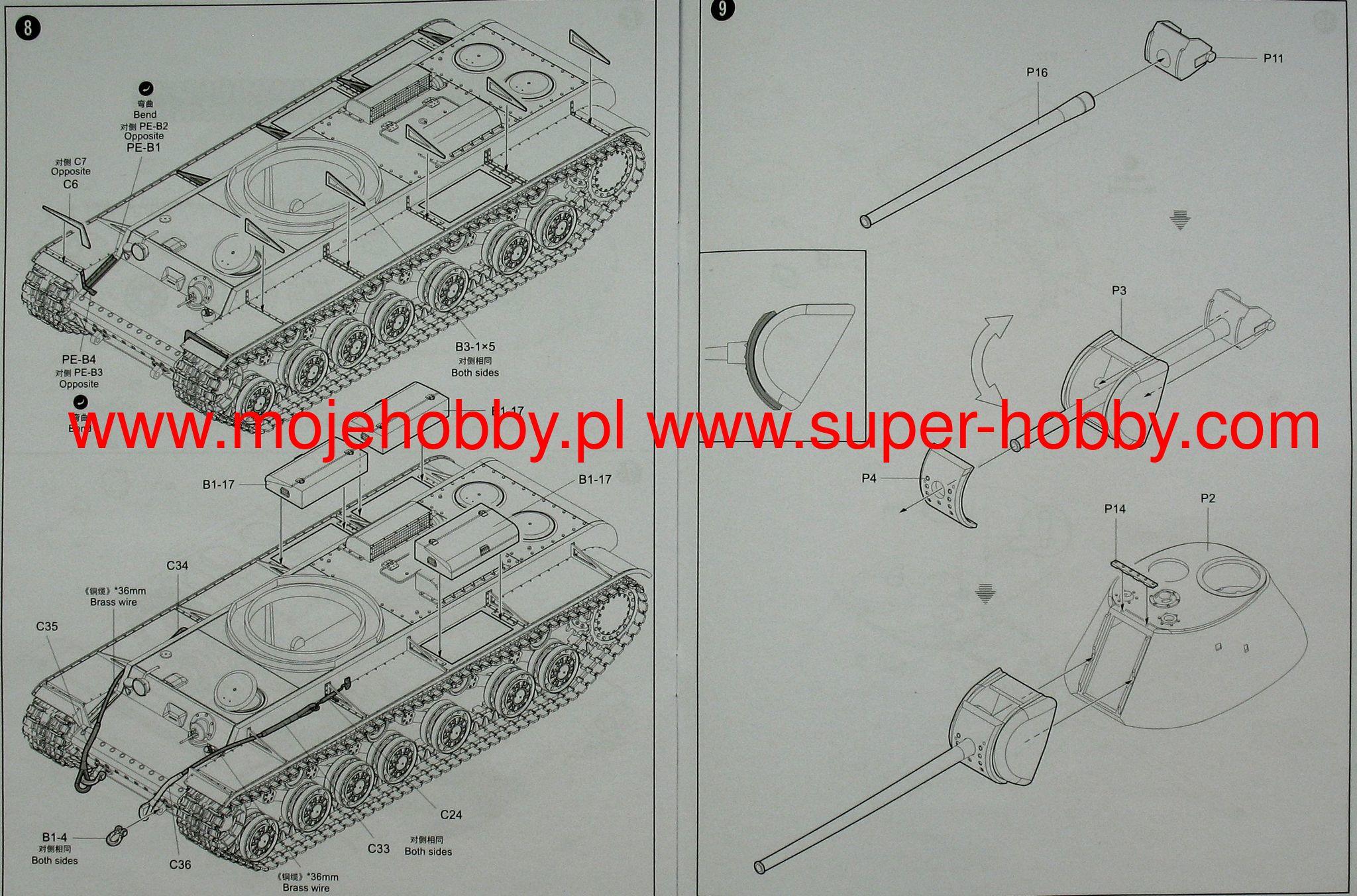 Russian Kv 3 Heavy Tank Trumpeter 09544 89 B2 Wiring Diagram 2 Tru09544 5
