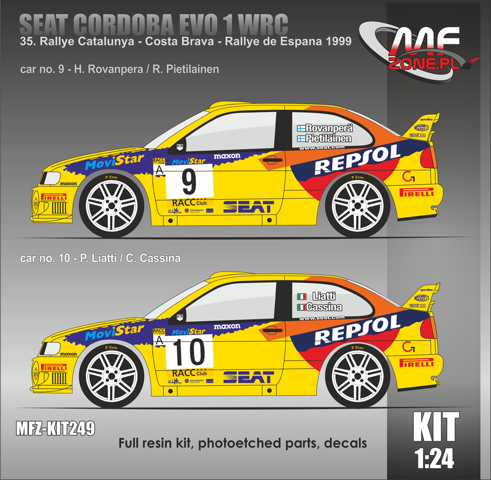 Seat Cordoba EVO 1 WRC Liatti, Rovanpera - 35  Rallye Catalunya 1999
