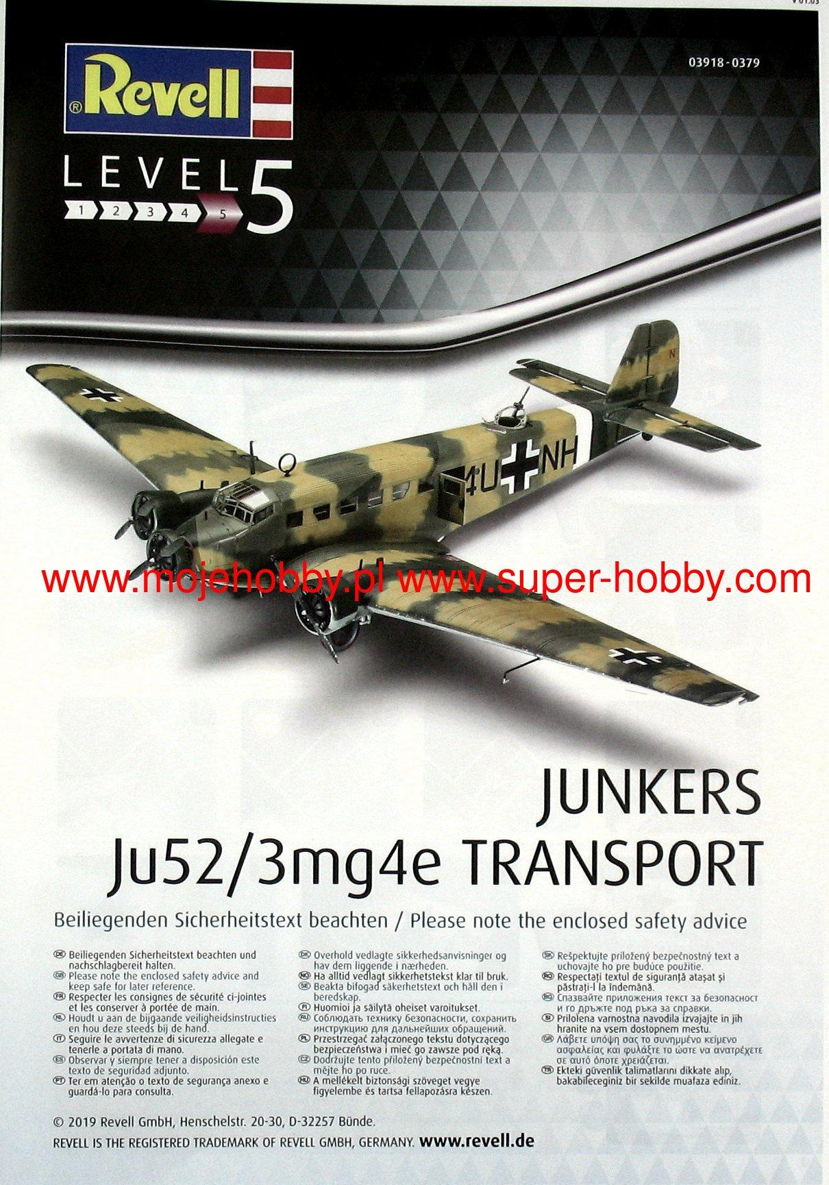 Revell 03918 Junkers Ju52//3m Transport
