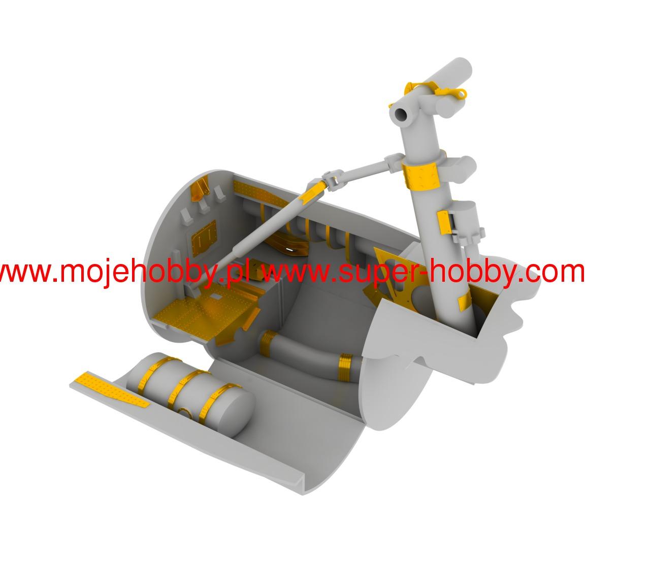 B17G Undercarriage for HKM EDU32342 EDUARD MODELS 1//32 Aircraft