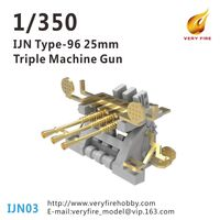 IJN Type-96 25mm Triple Machine Gun (10 sets)
