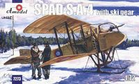 SPAD S.A.4 with ski gears French IWW Aircraft