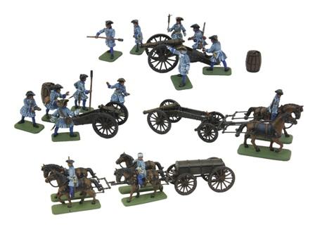 8066 Zvezda Swedish artillery of Charles XII 1:72
