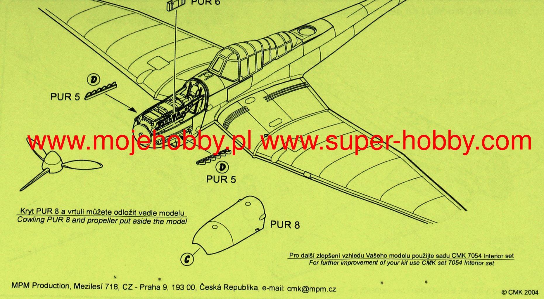 CMK 1//72 Junkers Ju87G Interior Set for Academy # 7054