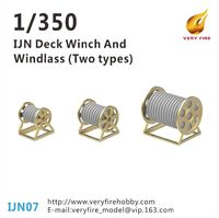 IJN Deck Winch and Windlass (3 types, 30 sets)
