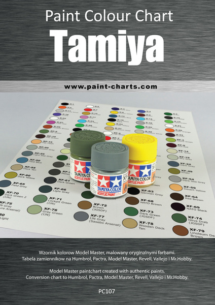 Paint Colour Chart Tamiya 12mm Pjb Pc107