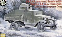 Soviet truck GAZ AA with Maxim Anti-aircraft machine-gun