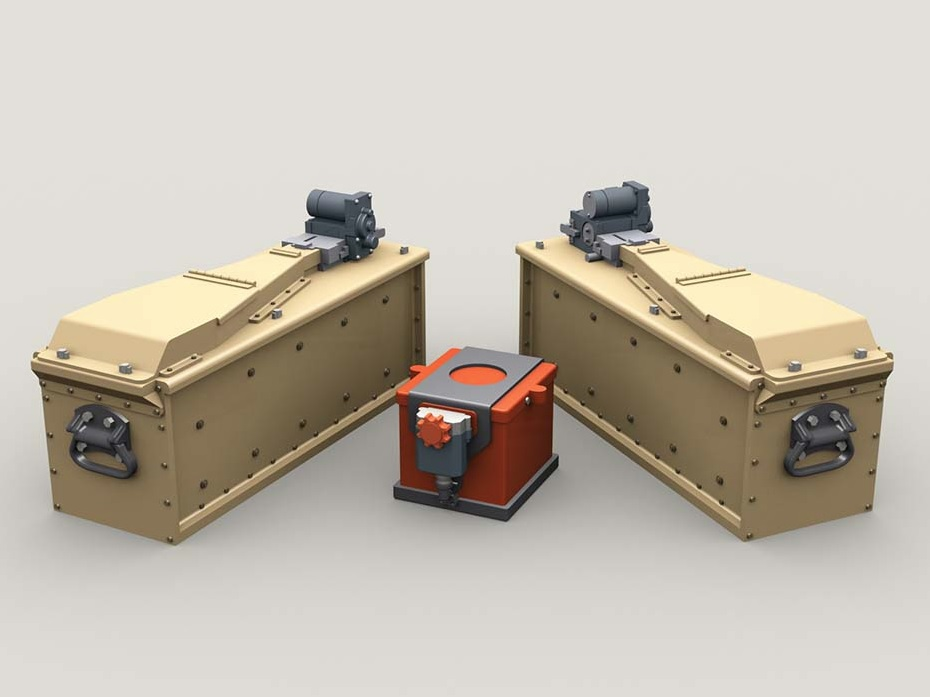 M134 Minigun 3,000 round 3-Bay Ammo Box set