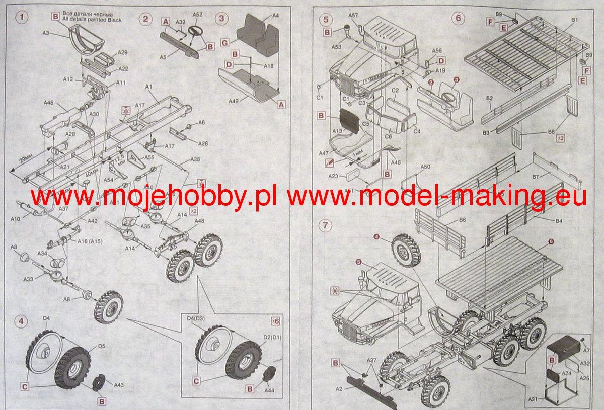 Ural 375 Army Truck Icm 72711 Wiring Diagram 2 Icm72711 3