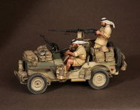 Crew of the Jeep SAS. North Africa.1941-42 #1 2 figures