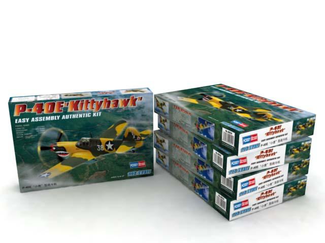 Hobby Boss 1//72 Curtiss P-40E Kittyhawk Easy Assembly # 80250 @