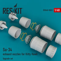 Su-34 exhaust nozzles for Kitty Hawk