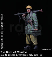 The Lions of Cassino / MG 42 gunner, 1. FJ Division, Italy 1943-45 - Image 1