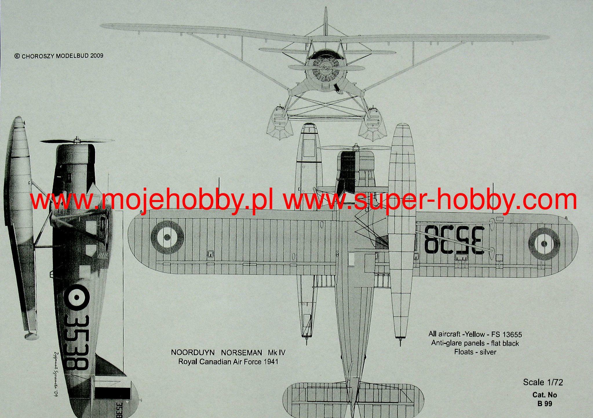 Choroszy 1//72 B98 Noorduyn Norseman Mk.IV resin kit
