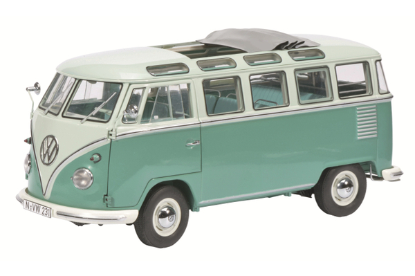 volkswagen t1 samba - die-cast model - schuco 450028200