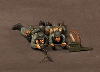 German machine gunner MG 34 team.1939-42 2 figures - Image 1