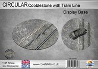 Circular Display Base Cobblestones with Tram Track 200mm