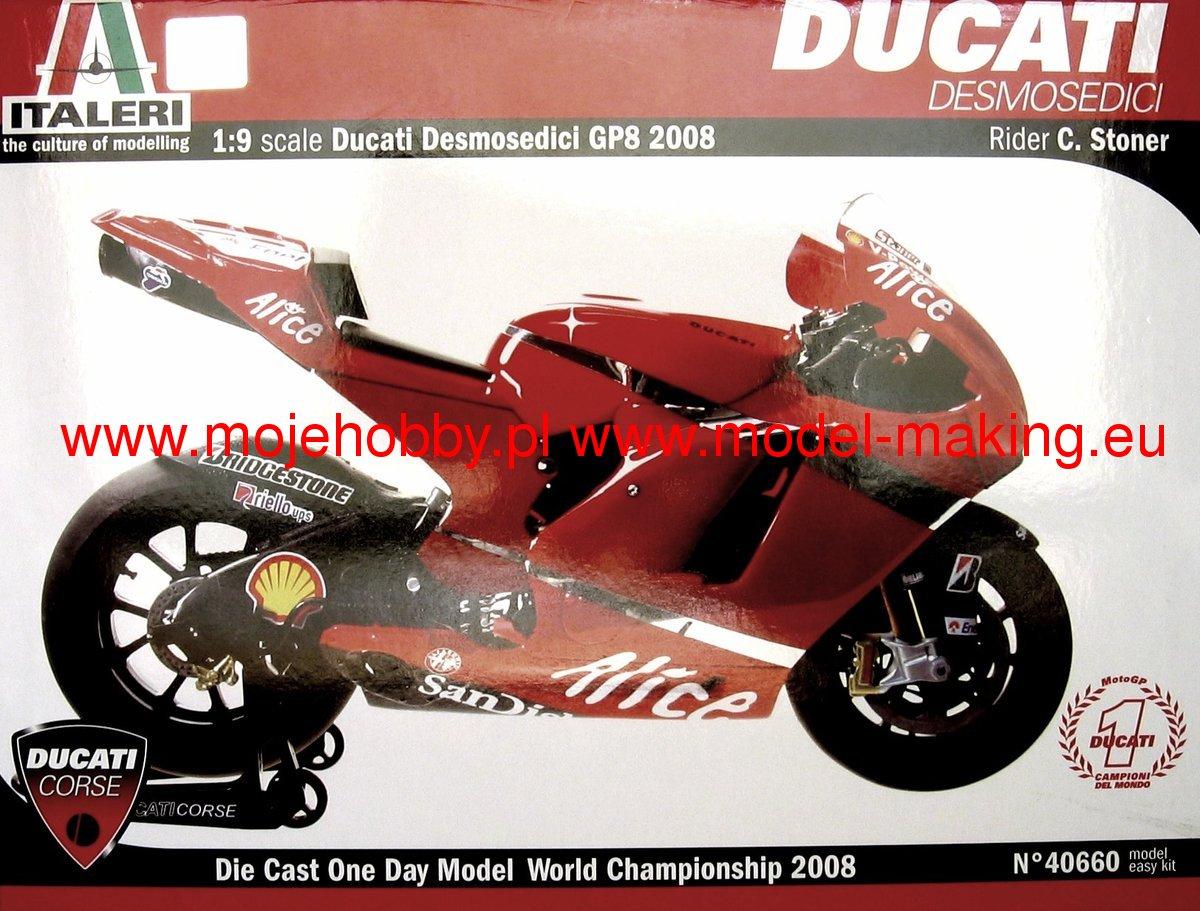 Ducati Desmosedici 2008 Stoner Italeri 40660 Tamiya Scale Kits 2 Ita40660 1