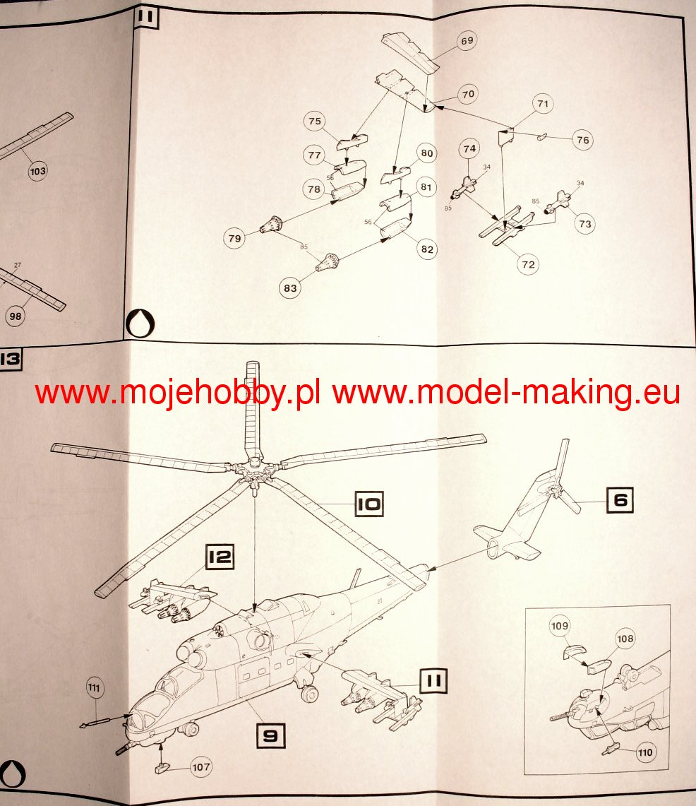 Mi 24 Hind A D Heller 80369 1009 Military Wiring Harness Diagram 2 Hlr80369 6