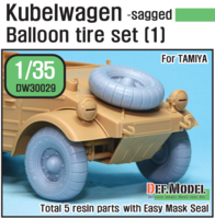 German VW Desert type Wheel set 1 (for Tamiya 1/35) - Image 1