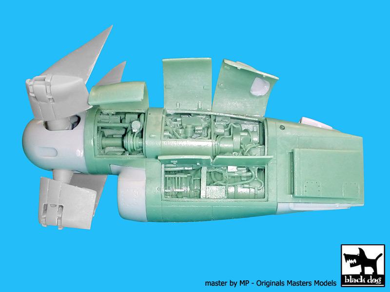 V-22 Osprey Engine For Hasegawa Black Dog