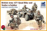 British Army ATV Quad Bike & Trailer