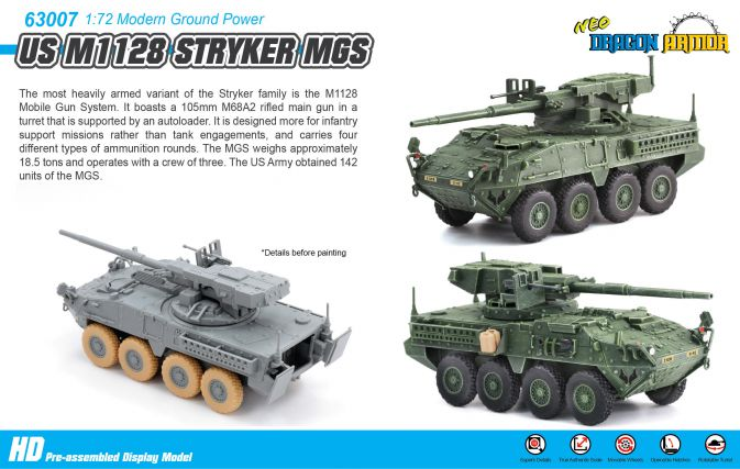 Us M1128 Stryker Mgs Die Cast Model Dragon Armor 63007 There are a total of  32  active u.s. us m1128 stryker mgs