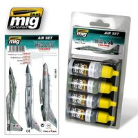 A.MIG 7204 MIG and SU Fighters Greys Set
