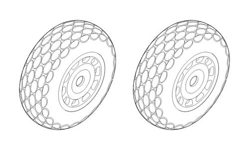 P-51D Mustang - Wheels 1/48 (Oval Tread Pattern) for Hasegawa/Revell/ Hobby Boss/Tamiya kit - Image 1