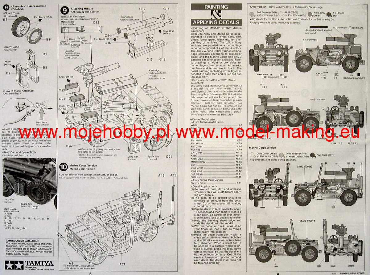 M151a2 Diagramsa Wire Diagrams M151a1 Wiring Diagram Us W Tow Missle Launcher Tamiya 35125 2 Tam35125 3 4