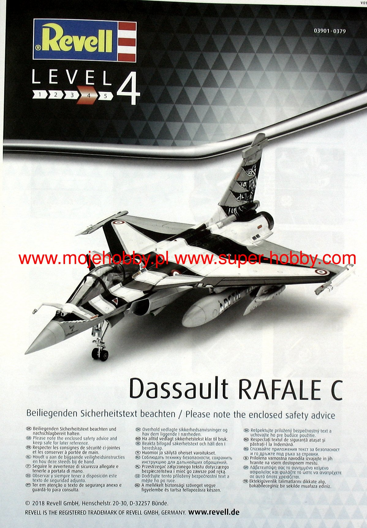Dassault Aviation Rafale C in 1:48 4009803901 Revell