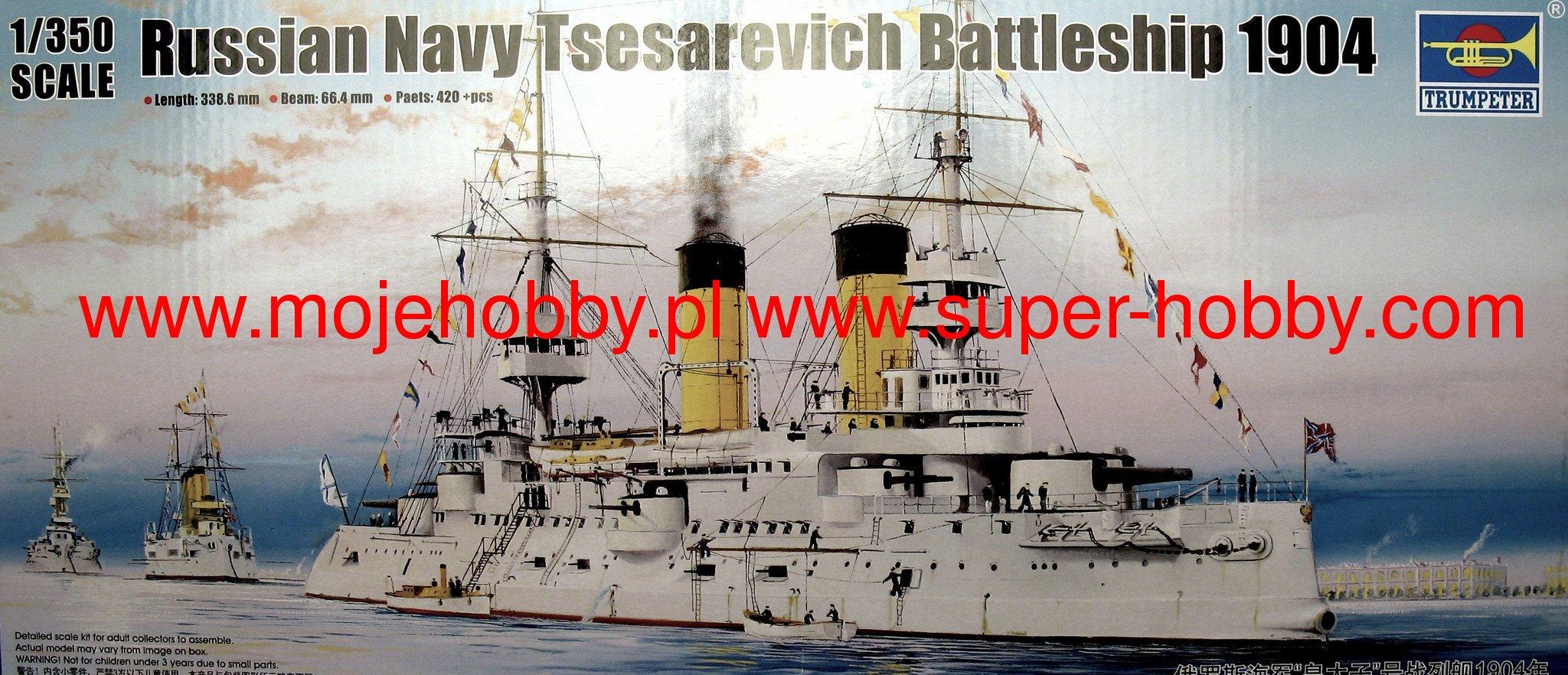 Trumpeter 5338 Modellbau Schiffahrt Russian Navy Tsesarevich Battleship 1904
