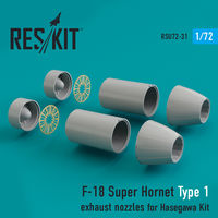 F-18 Super Hornet Type 1 exhaust nozzles for Hasegawa Kit - Image 1