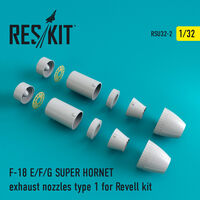 F-18 SUPER HORNET Type 1 exhaust nozzles for Revell - Image 1