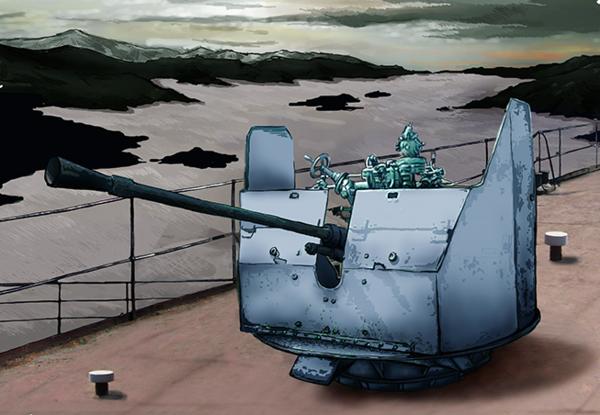 37mm anti-aircraft gun mount automatic 70K