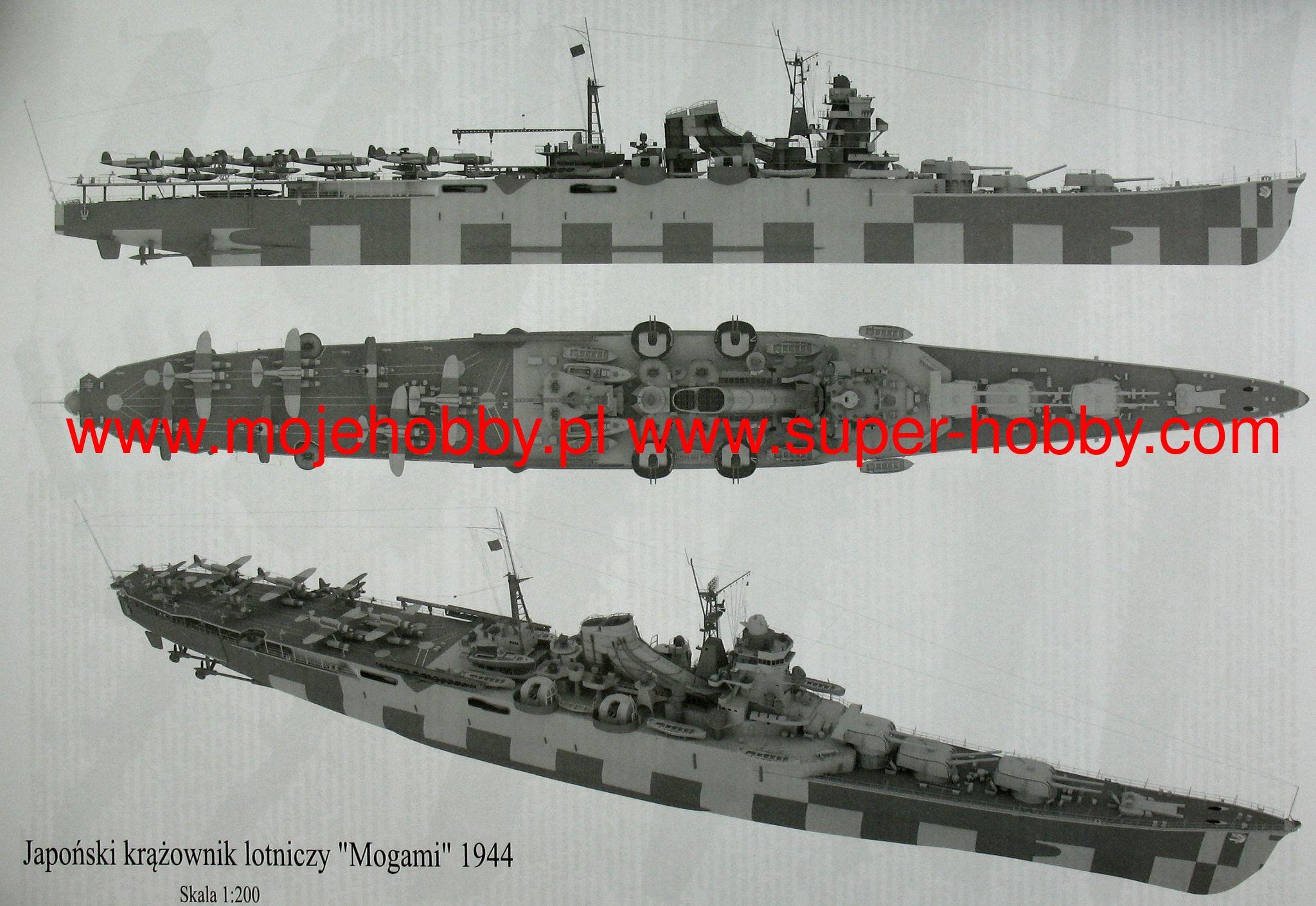 IJN Mogami - Japoński krążownik lotniczy - okres WWII