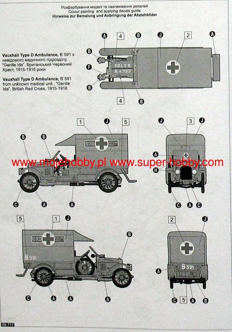 vauxhall d type ambulance roden 717 - Ambulance Pictures To Colour