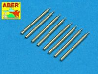 Set of 8 turned U.S. cal .50 (12,7mm) Browning M2 barrels for P-47 Thunderbolt - Image 1