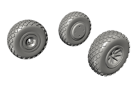 P-40 Wheels - Cross Tread for Special Hobby kit