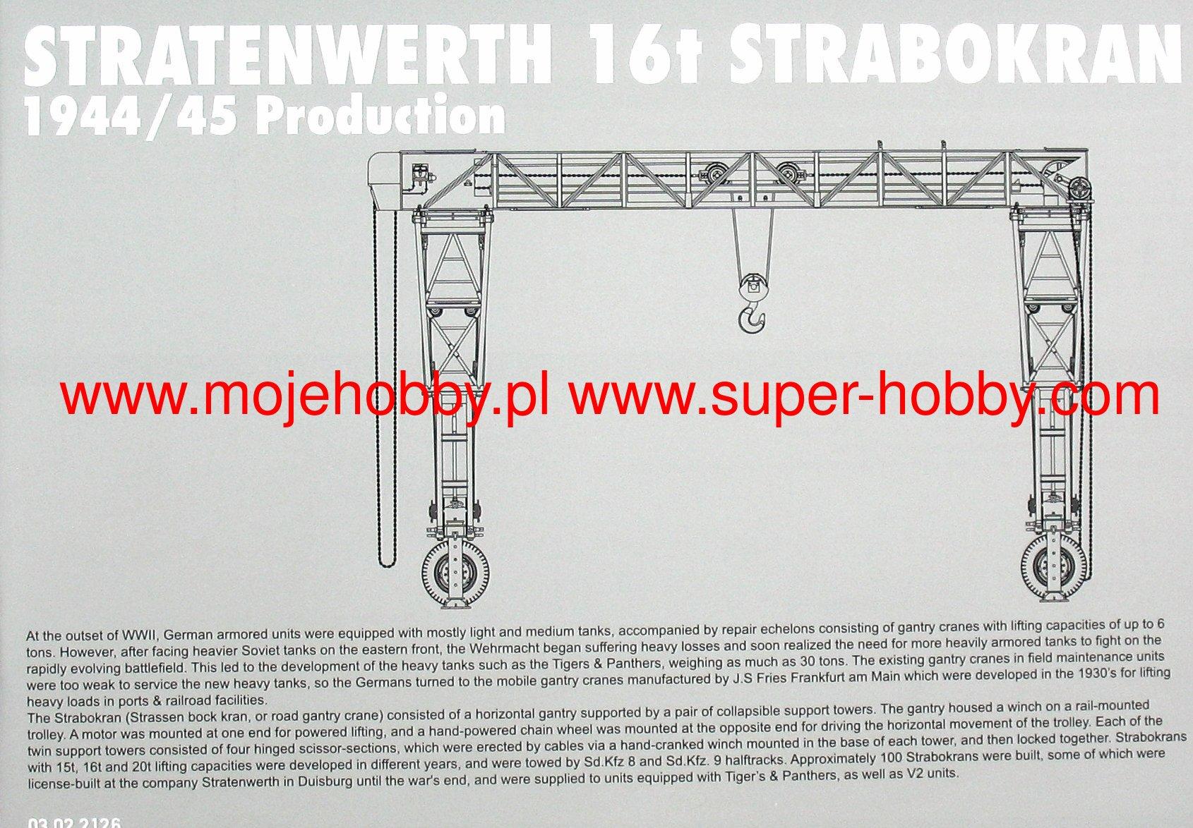 Takom 1//35 2123 V2 STRATENWERTH 16T STRABOKRAN HEAVY CRANE 1944//45 PRODUCTION